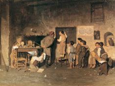 Scuola del villaggio di G. Costantini 1870